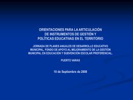 POLÍTICA COMUNAL EN EL ÁMBITO