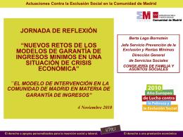 la renta mínima de inserción y el plan contra la exclusión social