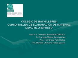 COLEGIO DE BACHILLERES CURSO