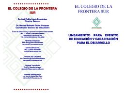 Presentación de PowerPoint - Unidad Chetumal de El Colegio de la