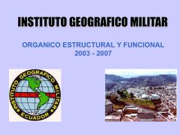 ORGANIgrama 2003IGM VALE - Instituto Geográfico Militar