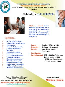 broshure alta gerenc.. - Universidad Abierta Para Adultos