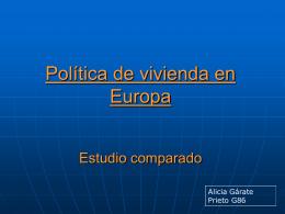 Política de vivienda en Europa