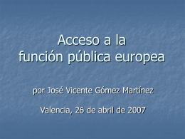 Acceso a la función pública europea
