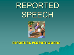 REPORTED SPEECH - inglesmoraima