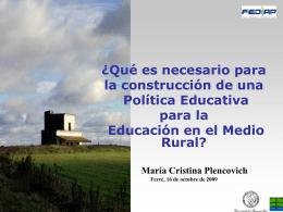 Lic. Cristina Plencovich