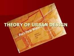 theory of urban design - Department of Urban And Regional Planning