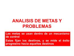 ANALISIS DE METAS Y PROBLEMAS