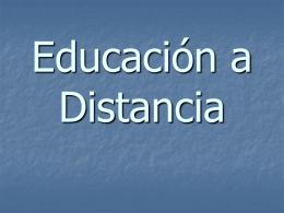 Modelo de Educación a Distancia - Especialización en Telemática e