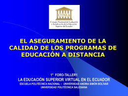 Diapositiva 1 - Campus Virtual EPN
