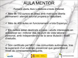 Presentació del programa Aula Mentor