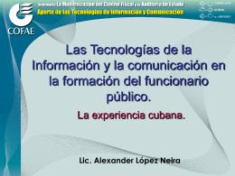 Las Tecnologías de la Información y la comunicación en la
