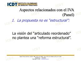 """Presentación """"Seminario de Reforma Tributaria (Panel IVA)"""""""