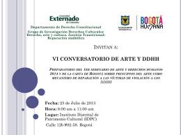 Conversatorio 23 de julio del 2013