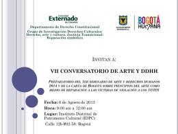 Conversatorio 6 de Agosto del 2013