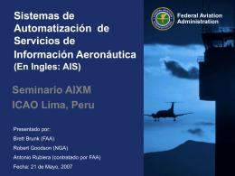 Seminario AIXM, ICAO Lima, Peru