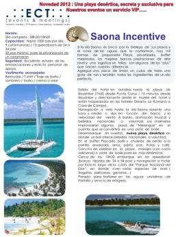 Saona Incentive