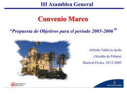 III Asamblea General Convenio Marco
