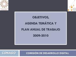 agenda temática y plan anual de trabajo 2009-2010