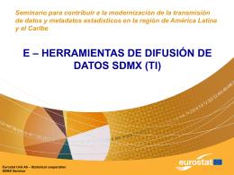 Herramientas SDMX para difusión de datos