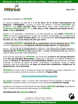 Información de Mayo 2011