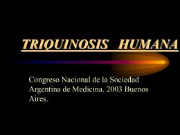 TRIQUINOSIS HUMANA
