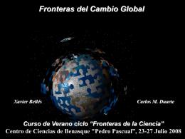 Cambio Global - Centro de Ciencias de Benasque Pedro Pascual