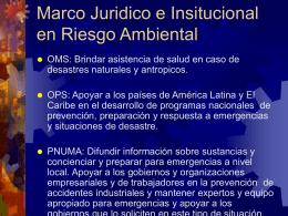 Marco Juridico en Riesgo Ambiental
