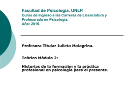 Módulo 2. Clase Teórica Julieta Malagrina. Power Point