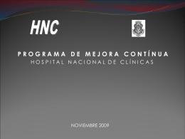 Presentación Hospital Nacional de Clínicas UNC