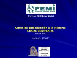 Curso de Introducción a la Historia Clínica Electrónica Edición 2010