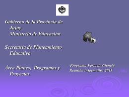 GeneralidadesFeria-2011 - Ministerio de Educación