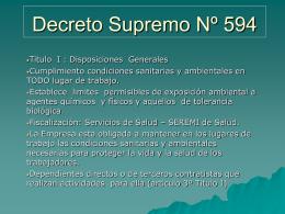 7. Decreto 594, PPT