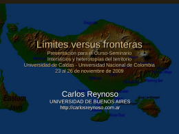Límites versus fronteras