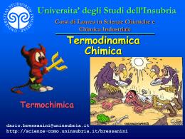 Legge di Hess - Università degli Studi dell`Insubria