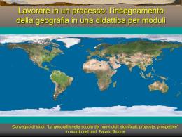 l`insegnamento della geografia in una didattica per moduli