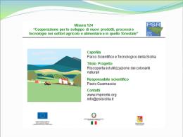 Cooperazione per lo sviluppo di nuovi prodotti, processi e
