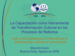 La Capacitación como Herramienta de Transformación Cultural en