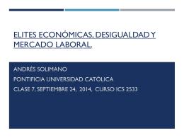 Elites Económicas , Desigualdad y Mercado Laboral.