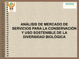 Mercado de servicios para la conservación y uso sostenible de la