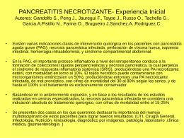 pancreatitis necrotizante