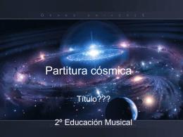 Partitura cósmica