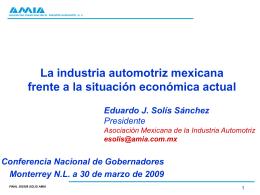 presentación del Dr. Eduardo Solís Sánchez, Presidente