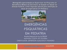 Emergências psiquiátricas em Pediatria