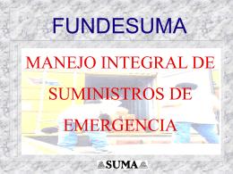 Manejo Integral de Suministros de emergencia