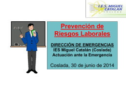 Dirección de emergencias (IES MC)