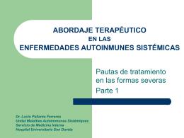 Abordaje terapéutico en las EAS. Guía clínica de tratamiento parte 1