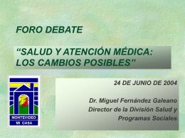 Presentación de Miguel Fernández Galeano