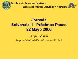 Próximos pasos - Instituto de Actuarios Españoles