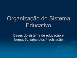 Bases do sistema de educação e de formação